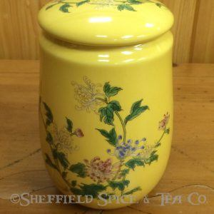 Yellow Flowers Oriental Tea Canisters