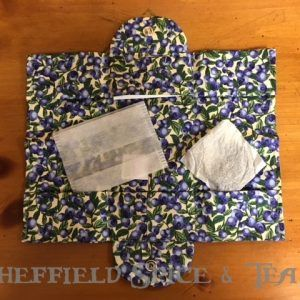 thistledown blueberries tea wallet open