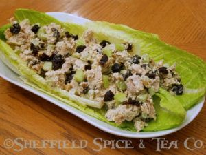 cherry walnut pesto chicken salad