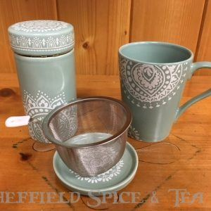 cypress lace tea cup infuser container set
