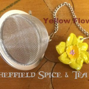 flower yellow 2 Inch Flowers Mesh Ball Tea Infusers