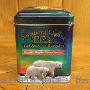 northern lights strawberry maple black tea tin