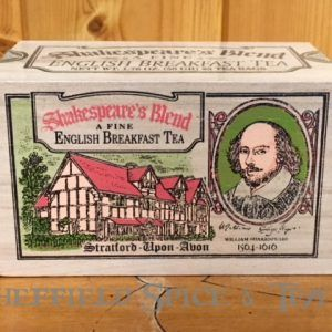 shakespeare blend english breakfast 25 bag wooden box tea