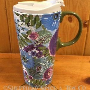 cypress crackle ceramic travel mug