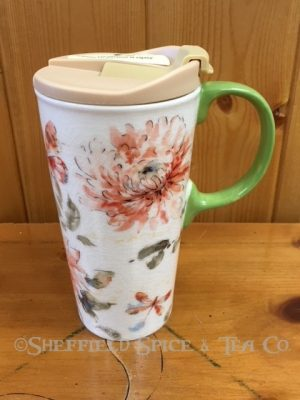 cypress watercolor ceramic travel mug