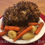 standing rib roast with fresh horseradish
