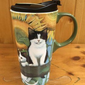 cypress sunflower 1 ceramic travel mug