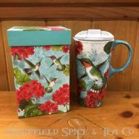 cypress trio birds ceramic travel mug