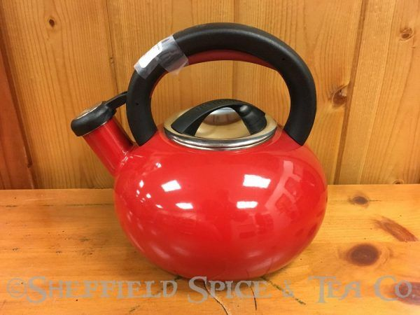 circulon sunrise 1.5 qt tea kettles red