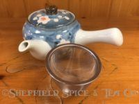 kyusu teapots blue flower