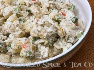 dill herbed potato salad bowl
