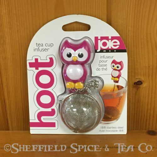 hoot owl tea infuser pink