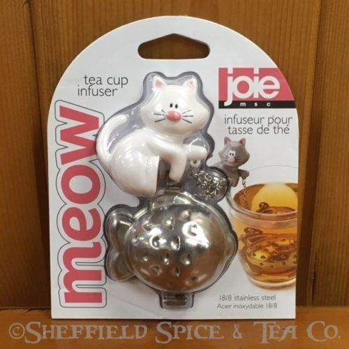 joie novelty tea infuser white cat