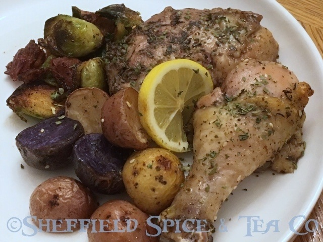 roasted za'atar chicken with potatoes