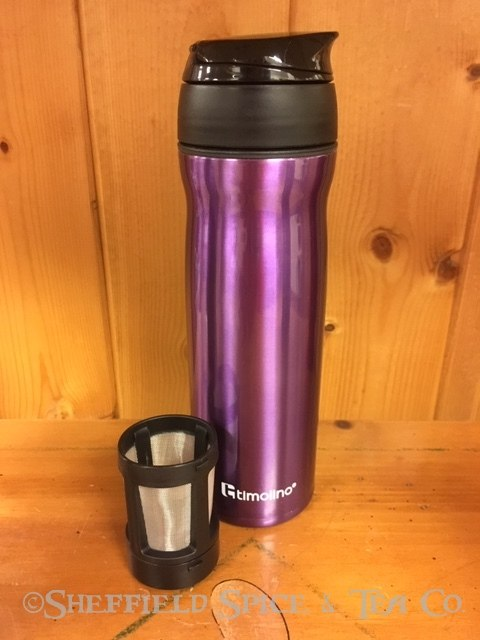 timolino travel tea infuser purple