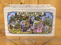 earl grey tea wooden box outdoors