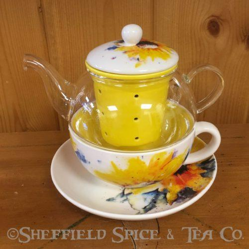 tea for one tea sets sunflower