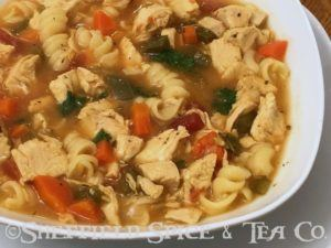 hearty british pub chicken soup