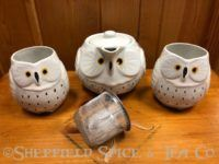 white owl 2 cup tea set
