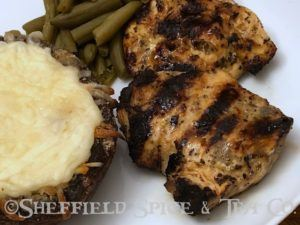 orange basil grilled chicken