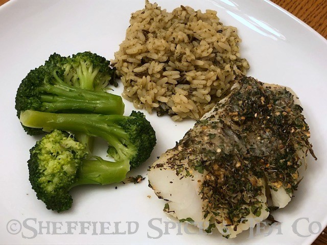 savory herb baked cod