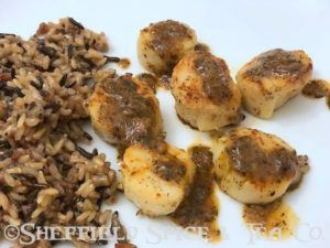 scallops with lemon pepper basil sauce