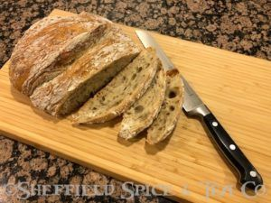 rosemary crusty bread loaf cut