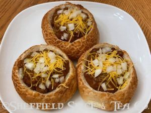 mini chili bread bowls