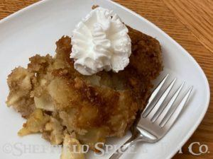 irish apple cake plate