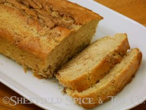 cinnamon coffee cake loaf sliced