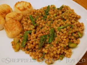 israeli couscous with asparagus and pine nuts