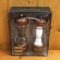 olde thompson del norte wood salt & pepper mill set